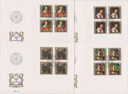 Lichtenstein FDC 1982 MiNr.809 - 812 4er Block Gemälde Berühmter Gäste In Lichtenstein( D 6150 ) Günstige Versandkosten - FDC