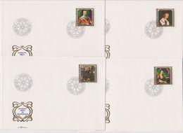 Lichtenstein FDC 1982 MiNr.809 - 812  Gemälde Berühmter Gäste In Lichtenstein( D 6151 ) Günstige Versandkosten - FDC