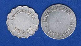 Coop  De  Thaon  Les  Vosges  2  Jetons - Monetary / Of Necessity