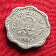 India 2 Naye Paise 1959 C KM# 11  Inde Indie - India