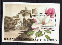 SIERRA-LEONE - FLOWERS - FLEURS - BOTANICAL GARDENS OF THE WORLD - BROOKLYN - MAGNOLIA - 1991 - B/F - M/S - - Sierra Leone (1961-...)