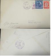 L) 1929 HONDURAS, ARCHITECTURE, BLUE, 6C, STATUE, RED 50C, OVER PRINT, 25C, TELA MIAMI, SIGNED BY THE PILOT, F5 25, XF - Honduras