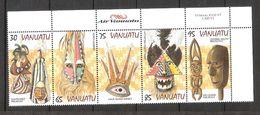 Vanuatu 1998 Traditional Dance Masks  Mi 1060-1064  MNH(**) - Vanuatu (1980-...)
