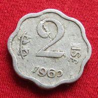 India 2 Paise 1965 C KM# 13.1  Inde Indie - India