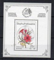 BOPHUTHATSWANA - FLEURS - FLOWERS - MINIATURE SHEET - BLOC FEUILLET - 1987 - - Bophuthatswana