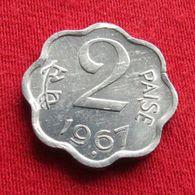 India 2 Paise 1967 B KM# 13.3 TYPE 2   Inde Indie - India