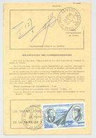 Ordre De Réexpédition Temporaire - Cachet  30/7/1974 NOISY LE SEC - PA 44 Concorde, Mermoz Et St Exupéry - Documentos Del Correo