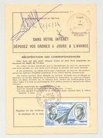 Ordre De Réexpédition Temporaire - Cachet  21/6/1974 NOISY LE SEC - PA 44 Concorde, Mermoz Et St Exupéry - Documents De La Poste