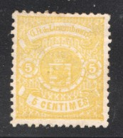 Armoiries 5 Cent. Impr. Locale Prifix 29 (*) - 1859-1880 Armoiries