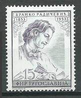 Yougoslavie YT N°642 Branko Radicevic Neuf ** - 1945-1992 República Federal Socialista De Yugoslavia