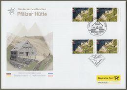 """Bund + Liechtenstein: Brief / FDC Mit 2x Mi-Nr. 2940: """" Pfälzer Hütte """" Joint Issue Gemeinschaftsausgabe      X - [7] République Fédérale"""
