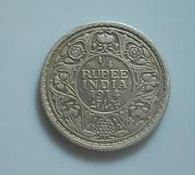 British India 1/4 Rupee 1914 Silver - India