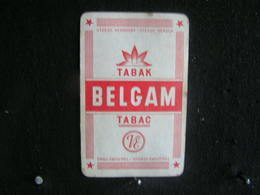 Playing Cards / Carte A Jouer / 1 Dos De Cartes, Inscription  Publicitaire /   Tabac - Belgam - Objets Publicitaires
