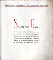 Association Nationale Pour L'Indochine Française - Soirée De Gala - Oran (Algérie), 1946 - Programme - Programs