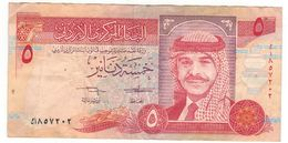 Jordan 5 Dinars 1992, VF, See Scan. - Jordanië