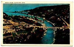 United States C.1920's Postcard Rocky River & Bridges - Cleveland, Ohio - Cleveland