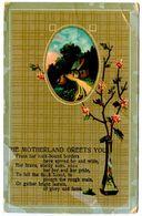 United States Vintage Postcard The Motherland Greets You - Poem - Postcards