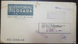 """L) 1960 CUBA, COVER, PRINTED MATTER, EARLY METER STAMP, """"DIFFERENT PRINT"""", XF - Otros"""