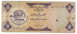 United Arab Emirates , 5  Dirhams , P- 2, F, See Scan - Emirats Arabes Unis
