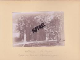 LOT DE 2 PHOTOS ANCIENNES,1880,LA HAYE,DEN HAAG,S-GRAVENHAGE,PAYS BAS,RARE,SUR LE MEME CARTON,RECTO VERSO - Lieux