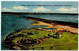 United States Vintage Postcard Miami Seaquarium On Rickenbacker Causeway - Florida - Museum