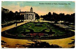 United States 1912 Postcard Sunken Gardens At Paseo - Kansas City, Missouri - Kansas City – Missouri