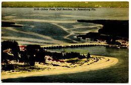 United States Vintage Postcard Johns Pass, Gulf Beaches - St. Petersburg, Florida - St Petersburg