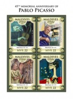 Maldives 2018 Picasso Painting  S201806 - Maldives (1965-...)