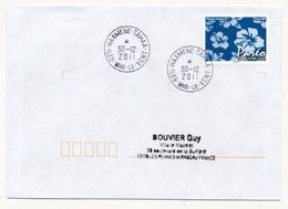 "POLYNESIE FRANCAISE - Enveloppe Affr. Pareo Oblitérée ""HAAMENE-TAHAA / ILES SOUS LE VENT"" 30-12-2011 - Lettres & Documents"