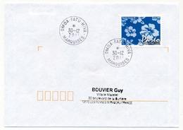"POLYNESIE FRANCAISE - Enveloppe Affr. Pareo Oblitérée ""OMOA - FATU - HIVA / MARQUISES"" 30-12-2011 - Lettres & Documents"
