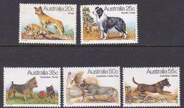 Australia ASC 752-756 1980 Dogs, Mint Never Hinged - 1980-89 Elizabeth II