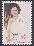 Australia ASC 837 1982 Queen Elizabeth Birthday Australia Day, Mint Never Hinged, - 1980-89 Elizabeth II