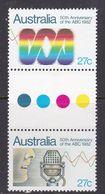Australia ASC 843b 1982 50th Anniversary Of ABC Gutter Pair, Mint Never Hinged - 1980-89 Elizabeth II