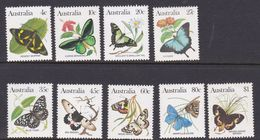 Australia ASC 888-896 1983 Butterflies, Mint Never Hinged - 1980-89 Elizabeth II