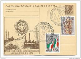 MOSTRA FILATELICA DEL XXX REPUBBLICA - LASTRA A SIGNA 1976  - FG - Firenze