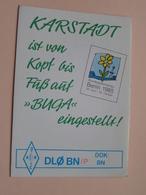 """KARSTADT Ist Von Kopf Bis Füs Auf """" BUGA """" Eingestellt DL7AKJ - G2FIX () Anno BERLIN 1985 ( Zie Foto's ) ! - Radio Amateur"""