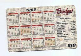 PHONECARD - SINGAPORE TAC Budget Calling Card $10 - USED - NO VALUE - Singapore