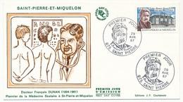ST PIERRE MIQUELON - Enveloppe FDC - 2,20 Dr François Dunan - Premier Jour 29 Avril 1987 - FDC