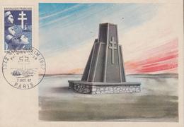 Carte   Maximum   1er   Jour   FRANCE  BIR  HAKEIM   1967 - Cartes-Maximum