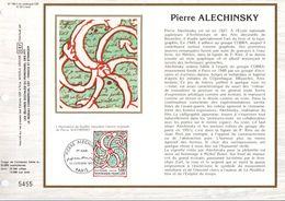 1985 DOCUMENT FDC PEINTURE DE PIERRE ALECHINSKY - 1980-1989