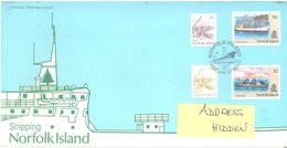 NORFOLK ISLAND - FDC - 17.7.1990 - SHIPPING  - Yv 473-476 ASC 475-478 - Lot 17494 - Ile Norfolk