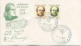 ITALIA - FDC CAPITOLIUM 1972 - LORENZO PEROSI - MUSICA - 6. 1946-.. Repubblica