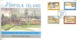 NORFOLK ISLAND - FDC - 6.12.1988 - BUILDINGS OF THE CONVICT ERA  - Yv 443-446 ASC 444-447 - Lot 17495 - Ile Norfolk