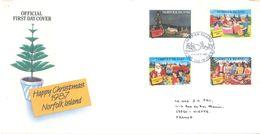 NORFOLK ISLAND - FDC - 13.10.1987 - CHRISTMAS  - Yv 417-420 ASC 418-421 - Lot 17496 - Ile Norfolk