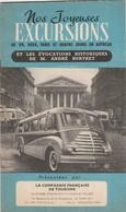 Depliant Touristique 12 Pages Nos Joyeuses Excursions En Autocar - Dépliants Turistici