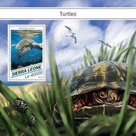 SIERRA LEONE 2018 - Turtles S/S. Official Issue. - Schildpadden