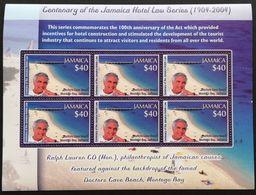 Jamaica 2004 Centenary Of The Jamaica Hotel Law Sheetle - Jamaica (1962-...)