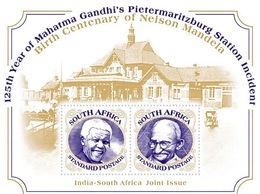 Gandhi Mandela 2018 South Africa India Joint Issue ( S.a Edition ) - South Africa (1961-...)