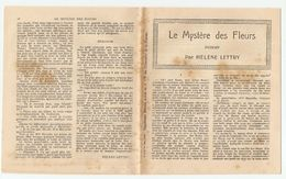 ROMAN LE MYSTERE DES FLEURS PAR HÉLENE LETTRY - Bücher, Zeitschriften, Comics