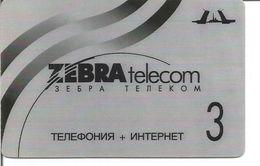 Télécarte De RUSSIE - Prépayée ZEBRA TELECOM (Expiration 30/06/2004) - Russie